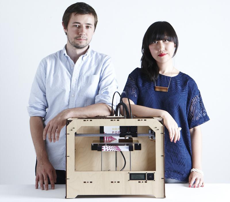 Hot Pop Factory founders/designers Matt Compeau and Bi-Ying Miao.
