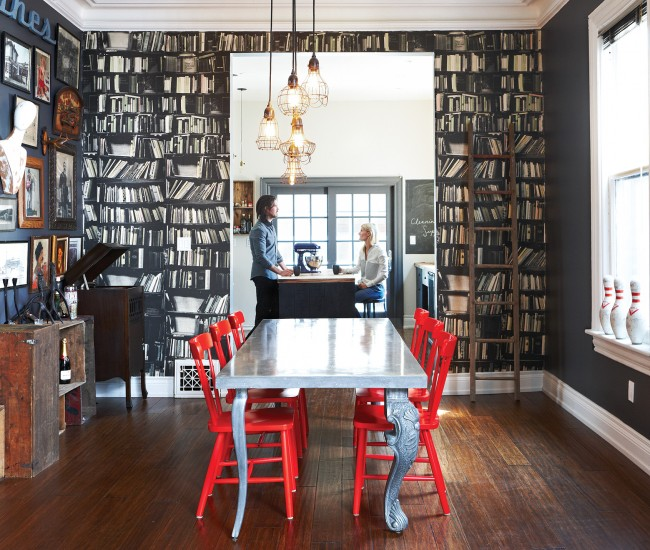 A One Dimensional Library Delivers The English Manor Look Without Fuss And Dust