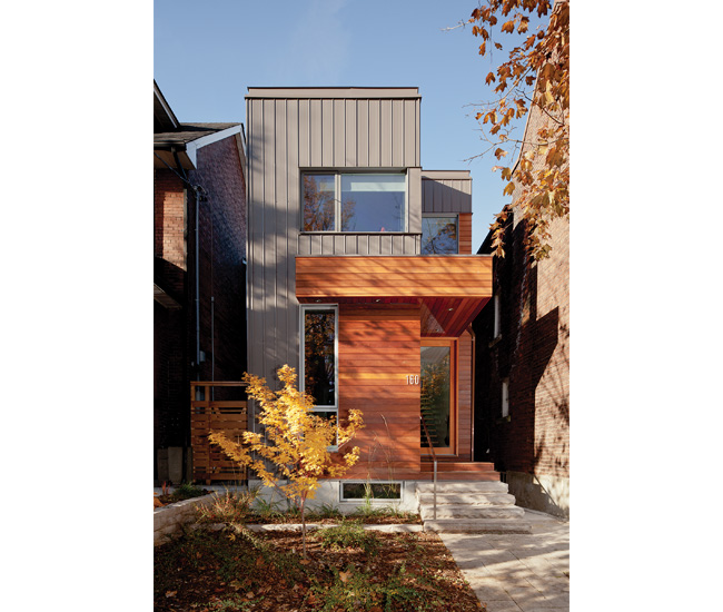 An architect designs a charming modern infill for her mom for Infill home plans