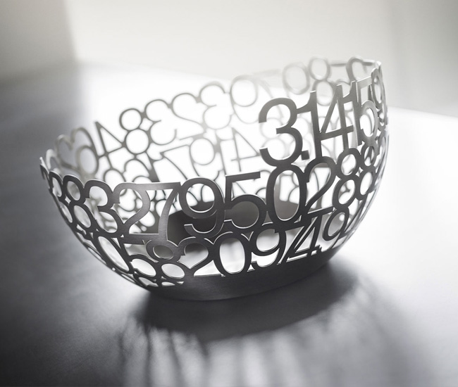 Laser Cut Stainless Steel Pi Bowl Designlines