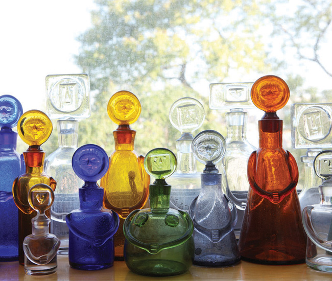Swedish people decanters by Erik Hoglund and made between 1957 and 1965.