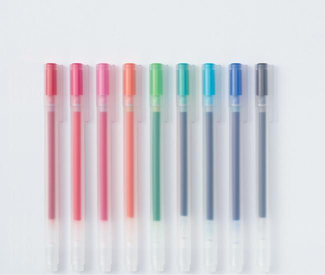 Gel pens available at Muji's Atrium Toronto store.