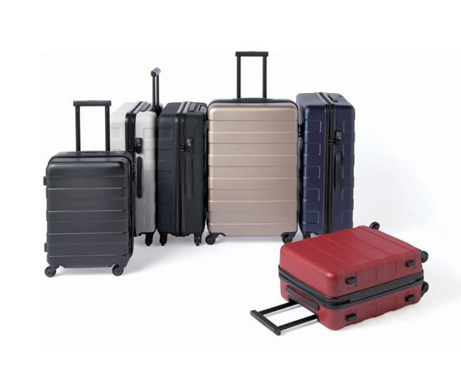 Hardcase luggage available at Muji's Atrium Toronto store.