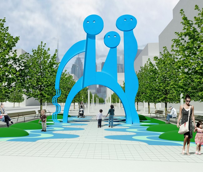 On a new stretch of Front Street East, an installation called The Water Keepers (to be unveiled in May) will comprise of a majestic painted-steel sculpture in a vibrant aqua blue