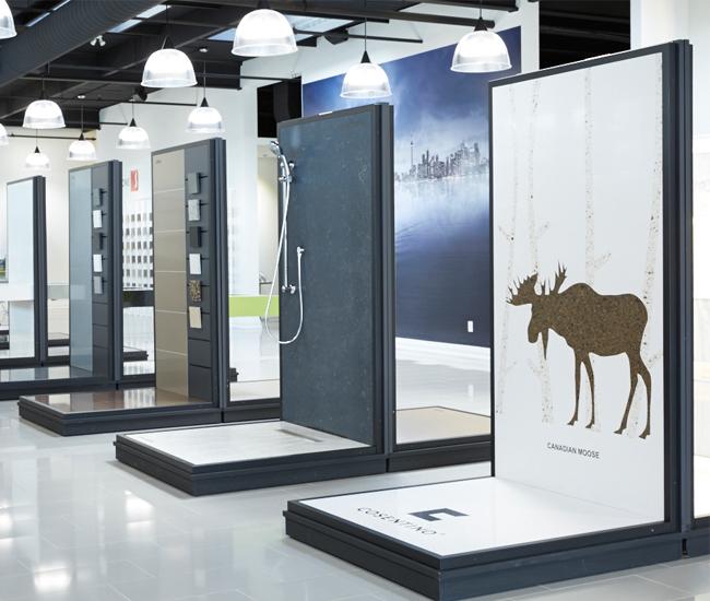 Toronto countertop materials showroom Cosentino Surfaces.