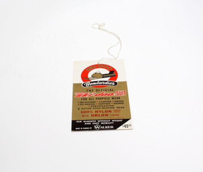 An original Ski-Doo tag.