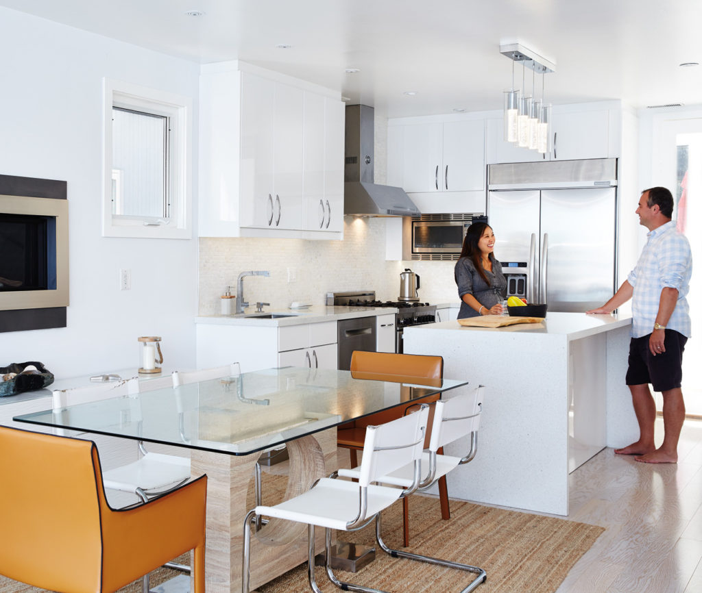 Embracing The Blue Kitchen: Toronto Float Homeowners Embrace The Life Aquatic