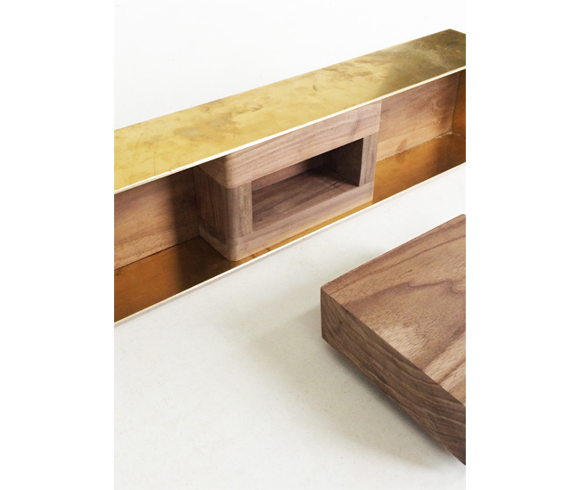 A study model for a fireplace designed for a private residence.