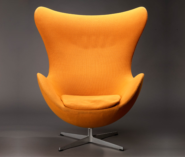 Egg lounge chair by Arne Jacobsen.