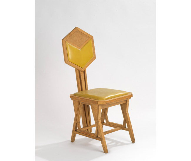 Side chair by Frank Lloyd Wright.