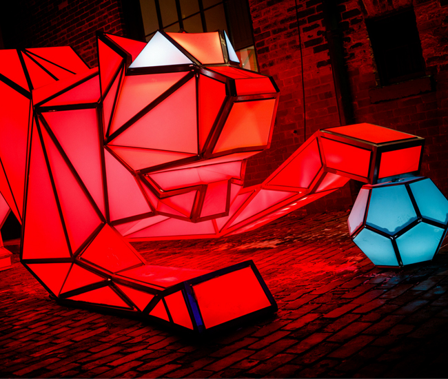 Digital Origami Tigers by Australia's LAVA.
