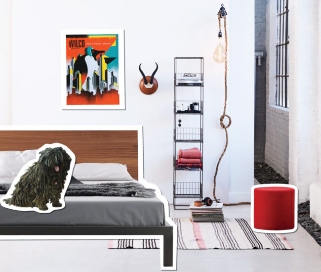We scour the city's seven design districts to single out destinations with the best solutions for every room of your home. Here, a Queen West bedroom mixing straight-laced and street smart stuff. Photo by Naomi Finlay.