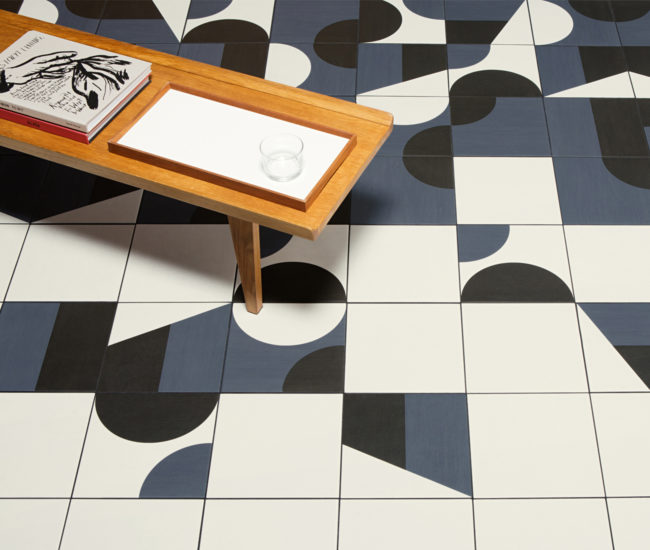 Rising surfaces: geometric tiles that leave us floored, including this Puzzle pattern by Mutina.