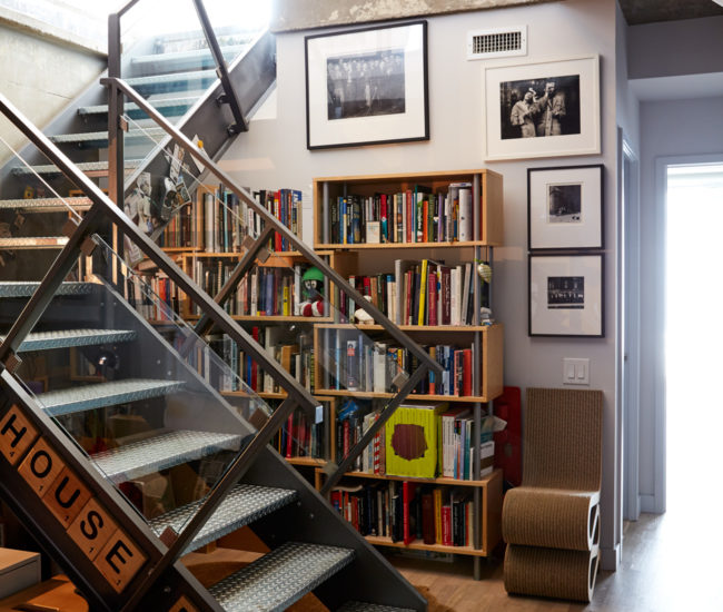 Foyer Staircase Urban Dictionary : A downtown loft chock full of playful personality