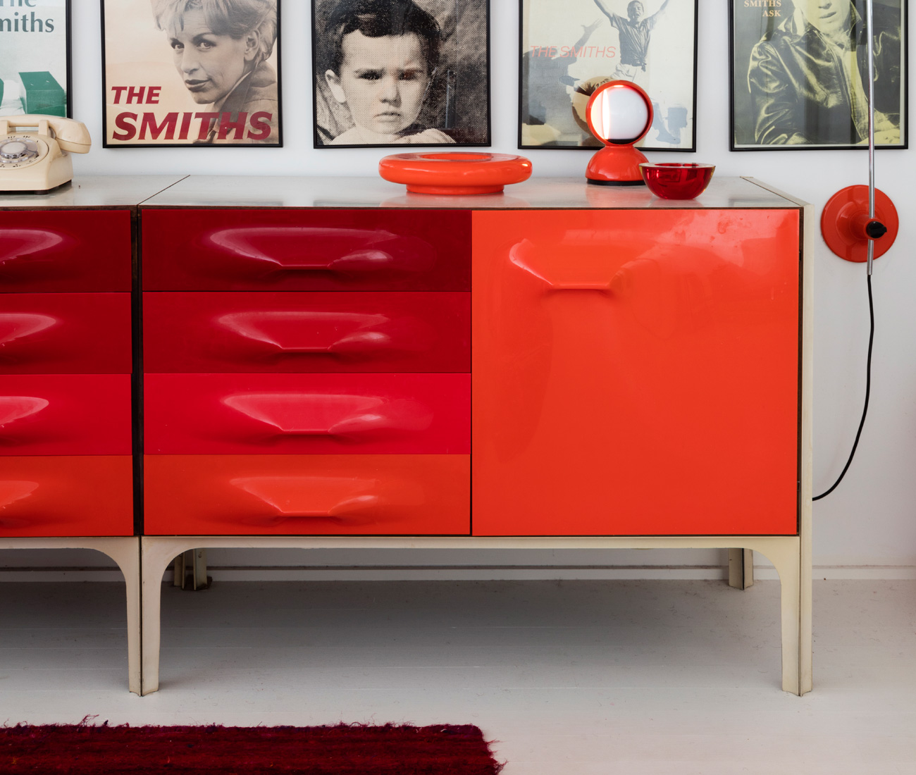 After Encountering A Wealth Of Orange Pieces From The U002760s And U002770s At  Nearby Shop Atomic Design, Chamard Decided To Dedicate His Sleeping  Quarters Entirely ...