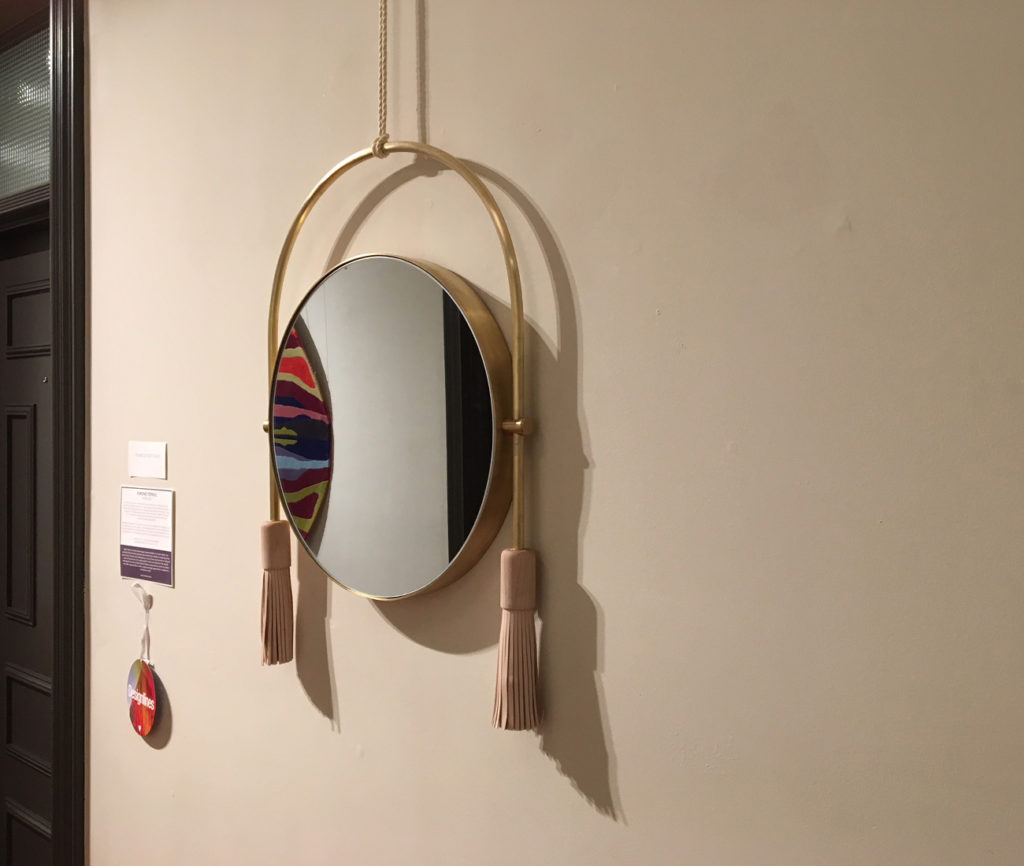 Interlude. We love everything Toronto designer Simone Ferkul produces and this stunning mirror did not disappoint. Just look at those metal curves and the soft leather tassels. So cool. (Gladstone Hotel, 1214 Queen St. W.)