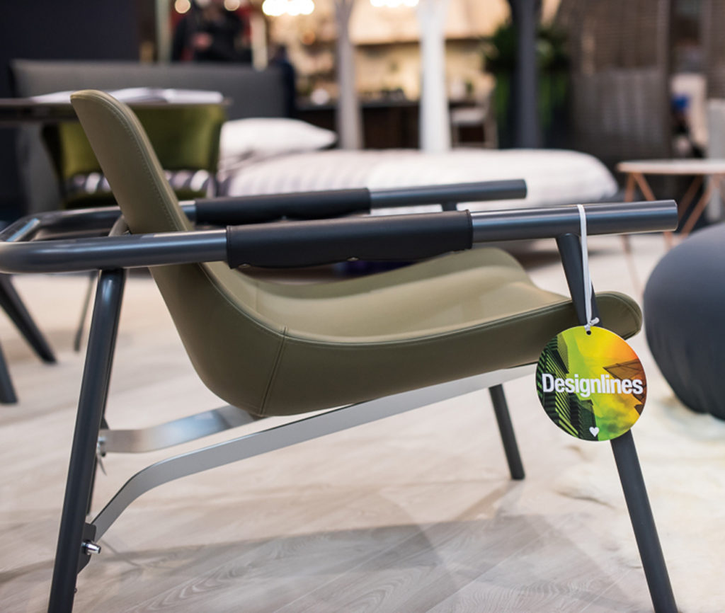 """The Eddy chair by Alain Gilles. It's the latest trend: the fixie bike, a vintage bicycle, which brings to mind a time when the streets were dirt roads and cyclists were heroes. Indeed, Eddy armchair is dedicated to a cycling legend. The shapes of Eddy draw their inspiration from the cycling world, but also from the minimal and elemental graphic design of the fixie. """"If you think about it, many of the first prototypes in the history of design were made in cycling workshops"""", explains Alain Gilles, """"because that's where the masters of tubular metal manufacturing were, and they had the expertise required to make those objects with such essential style""""."""