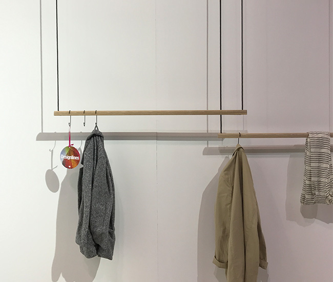Concord, Ontario-based Kroft calls HNGR a pop-up closet. Which is an accurate description: affable maker Dustin Kroft says the swing-like creation can be used to hang anything, anywhere. Want to hang pots off it? Be our guest. Your kitchen will be better off for it.
