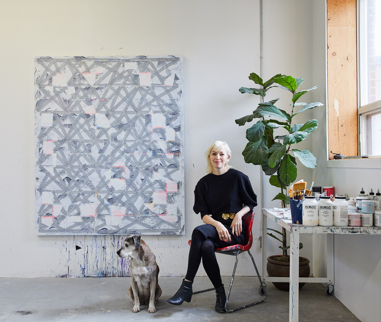 Inside Julia Dault S Bright Messy Minimalist Studio