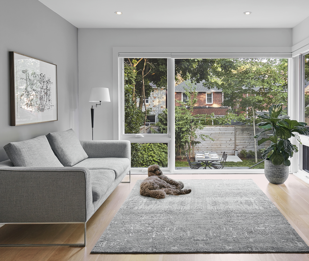 The view from House of Louis, a North Toronto renovation by Asquith Architects