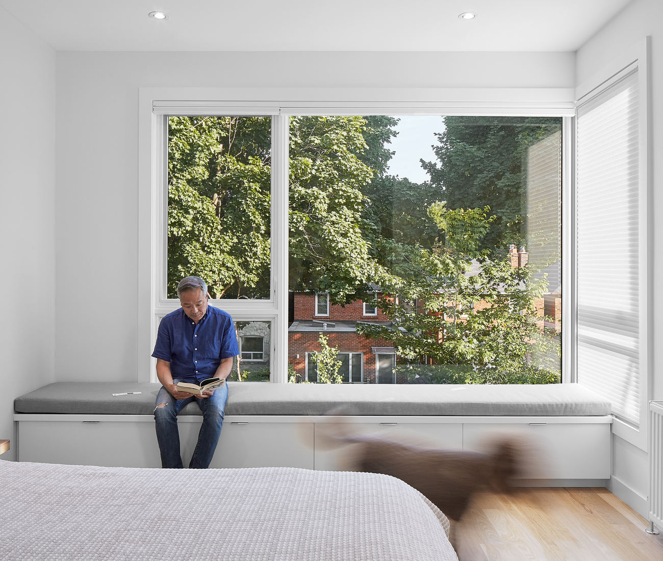 The master bedroom in House of Louis, a North Toronto renovation by Asquith Architects