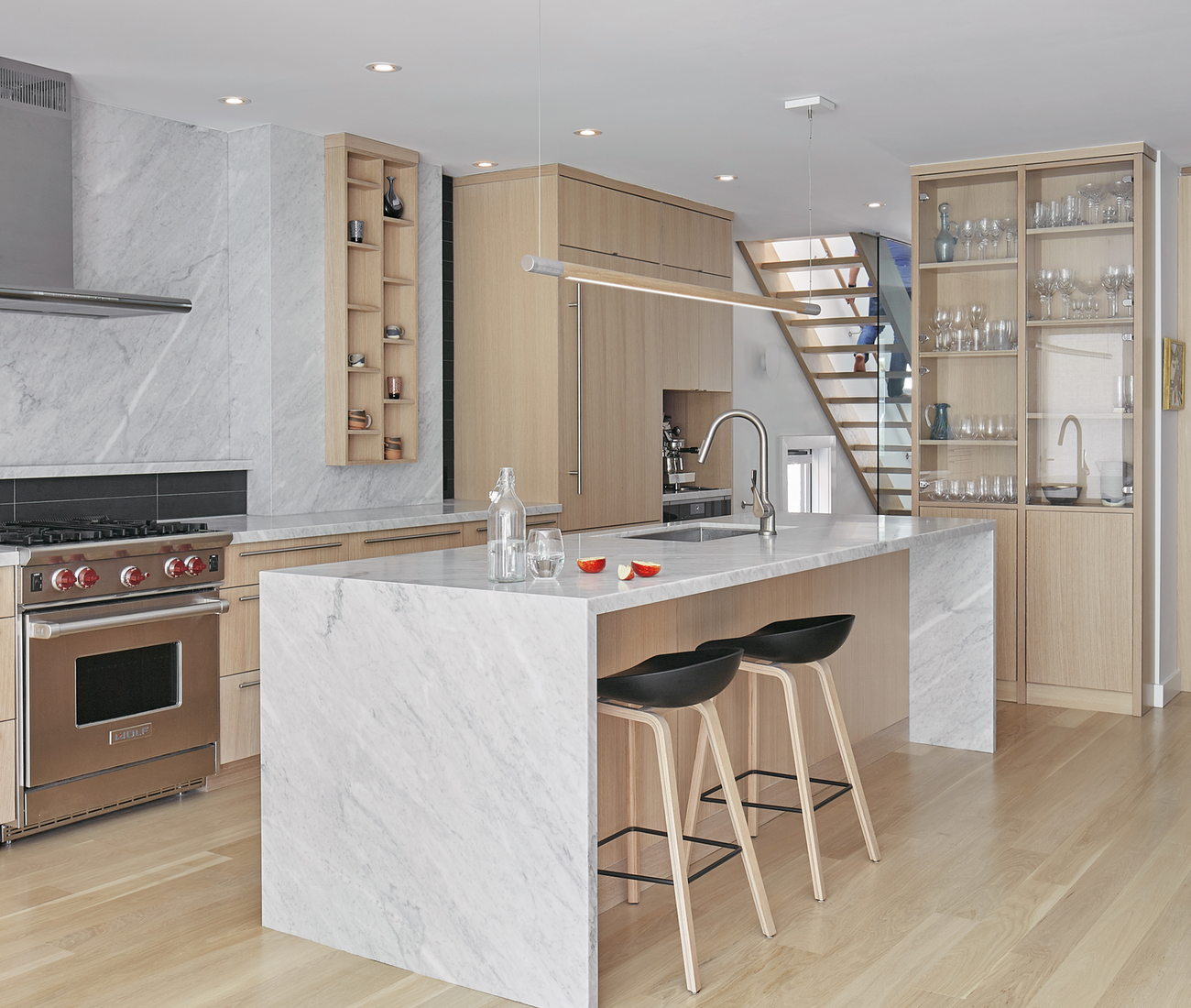 The kitchen in House of Louis, a North Toronto renovation by Asquith Architects