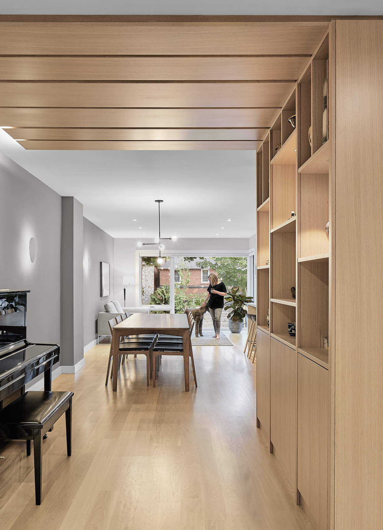 The custom cabinetry in House of Louis, a North Toronto renovation by Asquith Architects