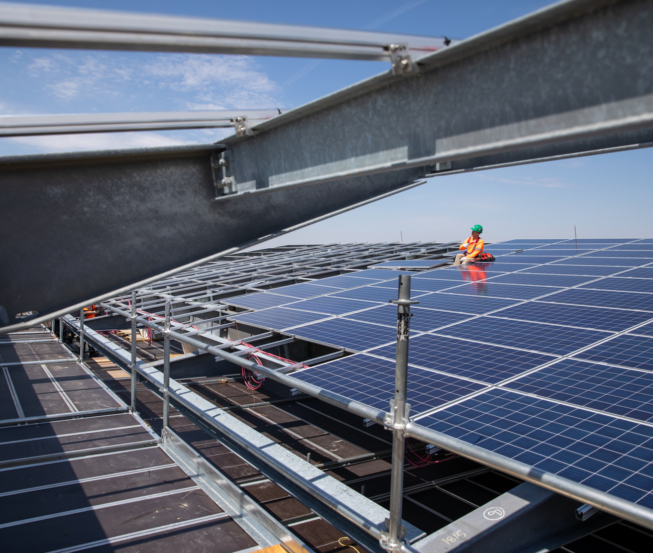 Photovoltaic panels at Mohawk College's Joyce Centre in Hamilton