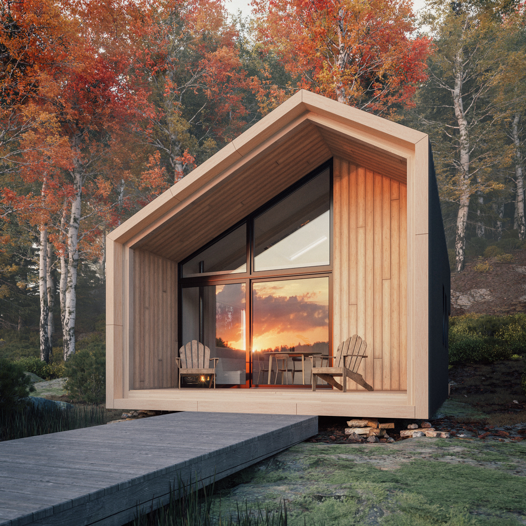 Leckie Studio's Great Lakes Backcountry Cabin