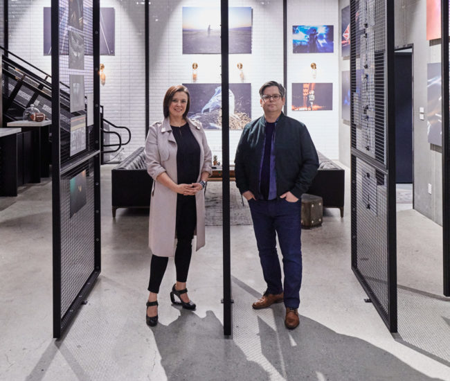 L&B principals Natasha Lebel and Luc Bouliane at the OneMethod office space.
